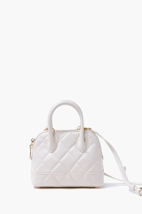 Faux Leather Quilted Satchel, image 3