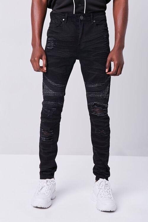 Waimea Distressed Moto Jeans, image 2