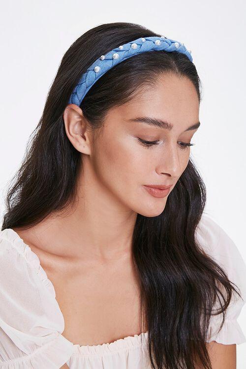 Faux Pearl Braided Headband, image 1