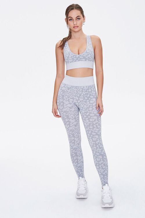 Active Seamless Spotted Print Leggings, image 1