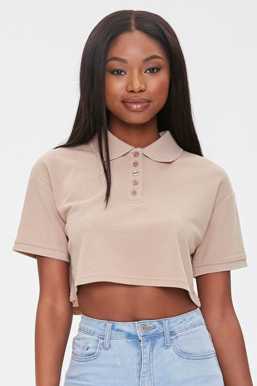 Cropped Polo Shirt, image 1
