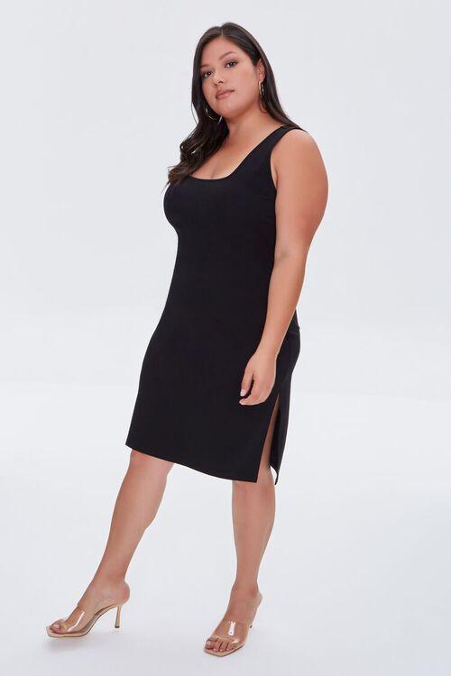 Plus Size Slit Tank Dress, image 4