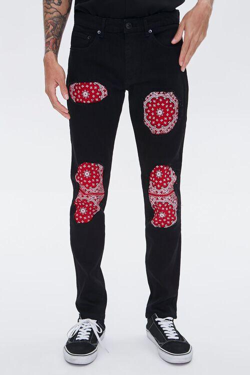 Bandana-Patch Skinny Jeans, image 2
