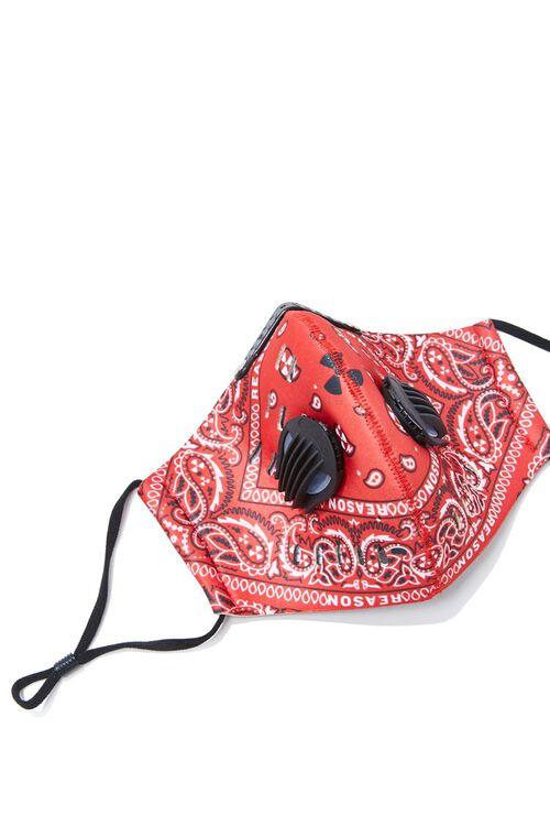 RED/MULTI Men Paisley Face Mask, image 3