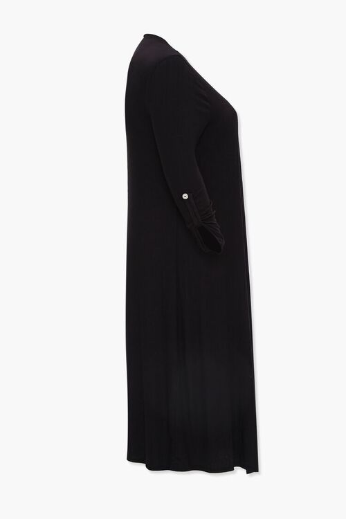 Plus Size Ribbed Duster Cardigan, image 2