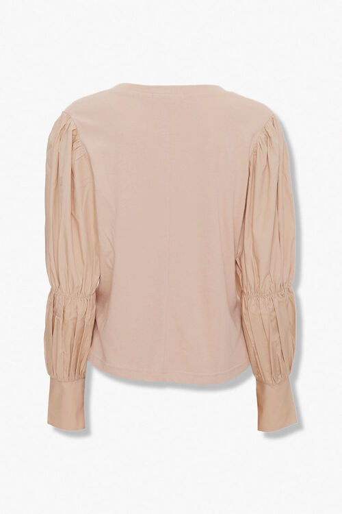 Long Pleated-Sleeve Top, image 3