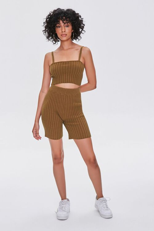 BROWN Ribbed Sweater-Knit Cami, image 4