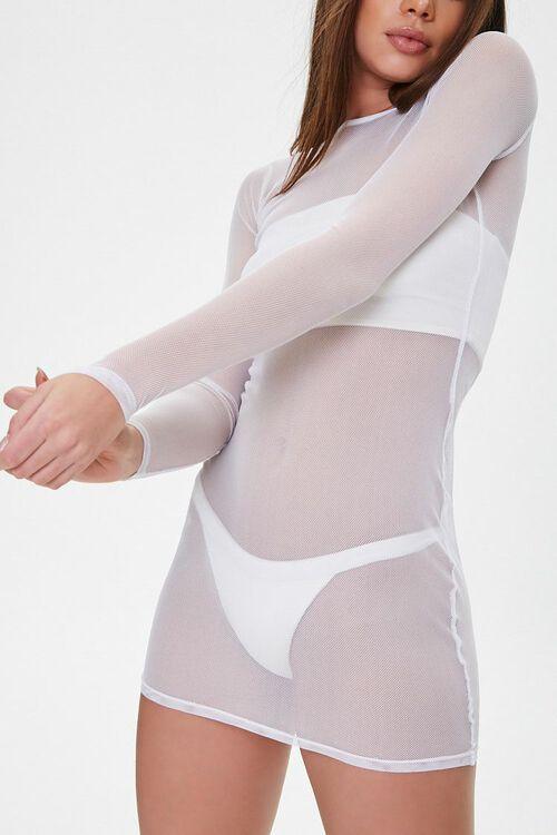 Sheer Mesh Swim Cover-Up Dress, image 1
