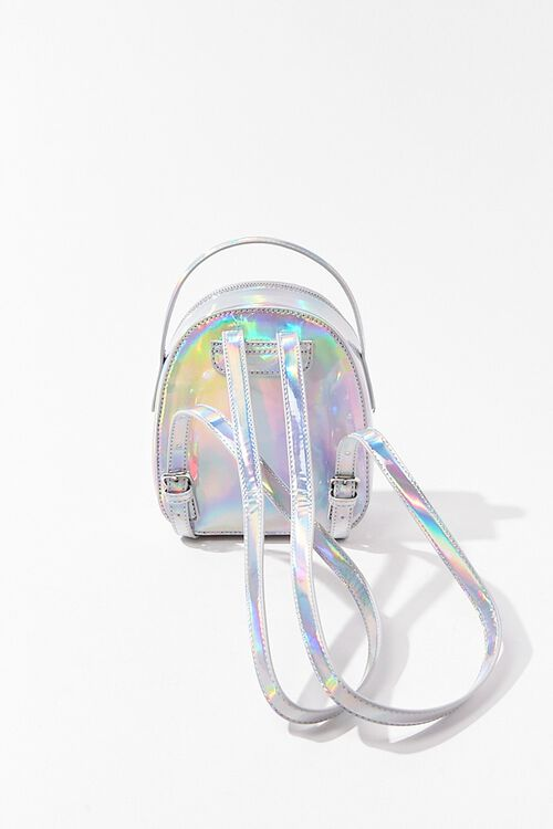 HOLOGRAPHIC Iridescent Mini Backpack, image 3