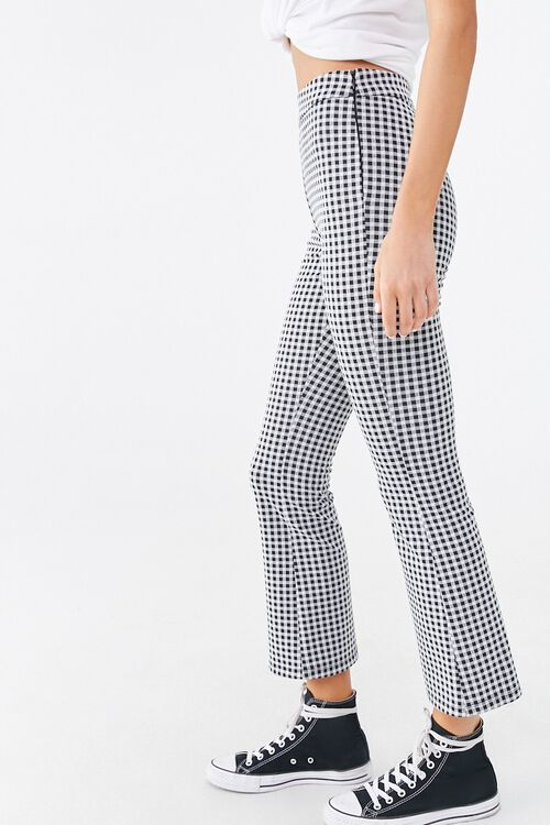 Gingham Print Flare Pants, image 3