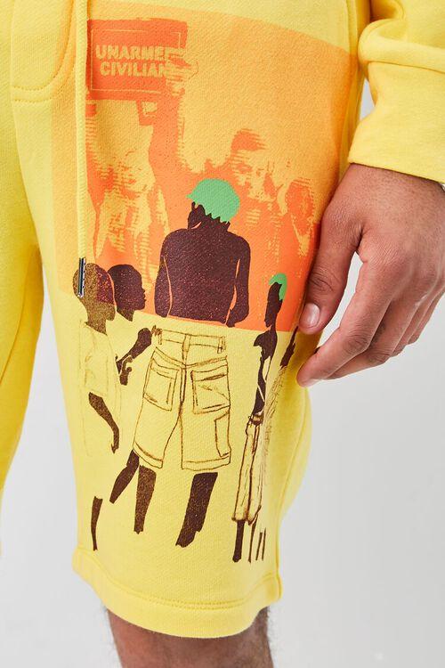 Ashley Walker Art Graphic Fleece Shorts, image 6