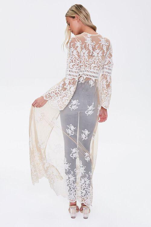 Sheer Embroidered Longline Kimono, image 3