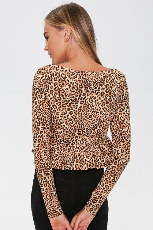 Leopard Print Ruffle-Trim Top, image 3