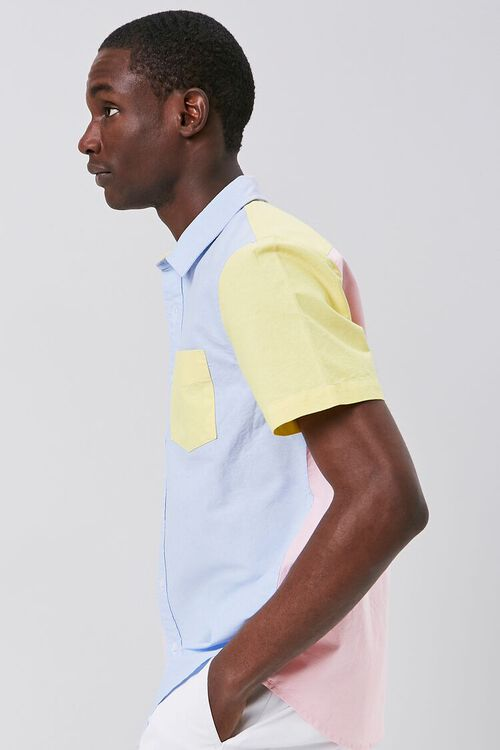 Colorblock Fitted Pocket Shirt, image 2