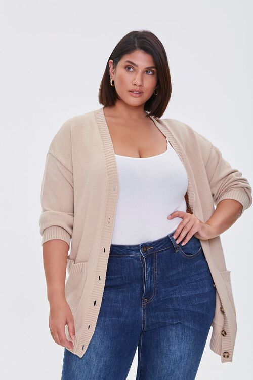 Plus Size Cardigan Sweater, image 5