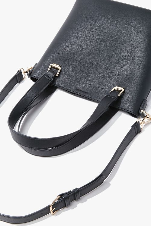 Faux Leather Tote Bag, image 3
