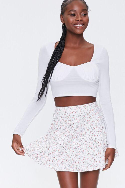 Floral Skater Skirt, image 1