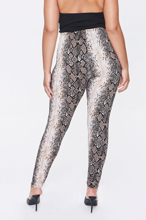 Plus Size Snake Print Leggings, image 4