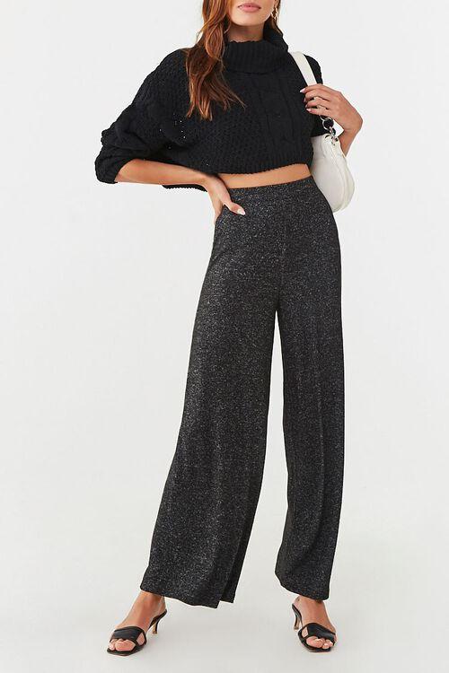 CHARCOAL Wide-Leg Fleece Sweatpants, image 1