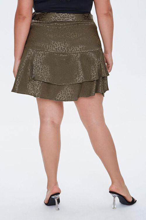 Plus Size Leopard Print Skirt, image 3