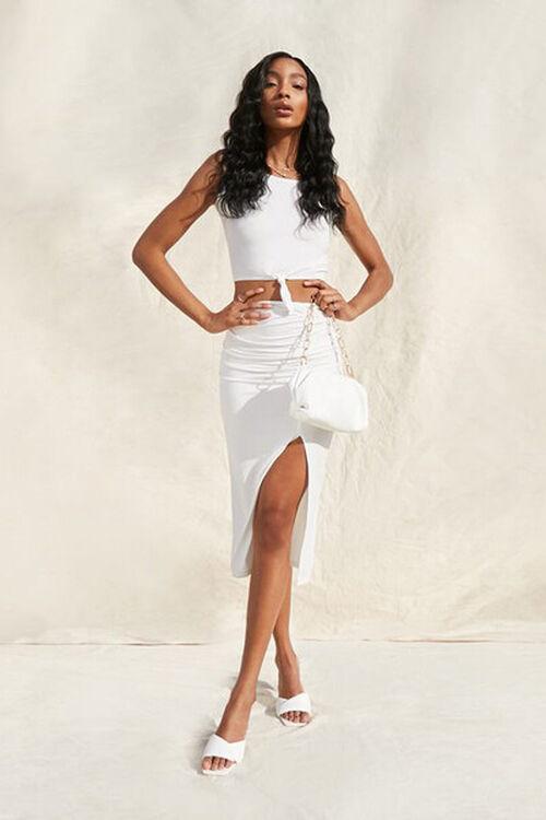 Crop Top & Midi Skirt Set, image 1