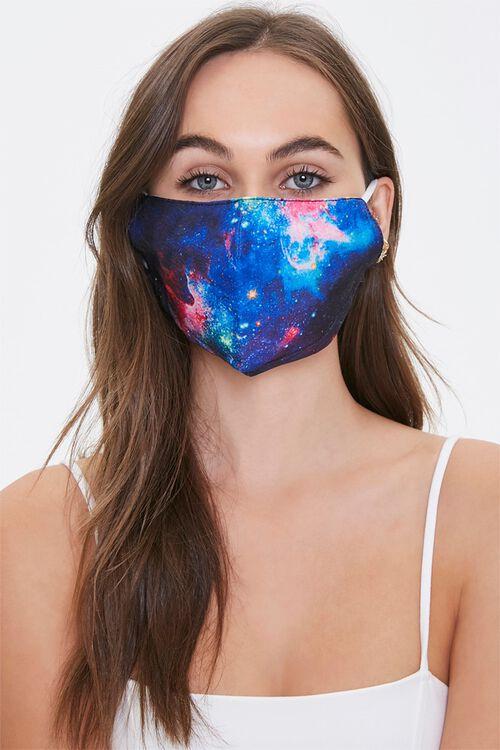 NAVY/MULTI Galaxy Print Face Mask, image 1