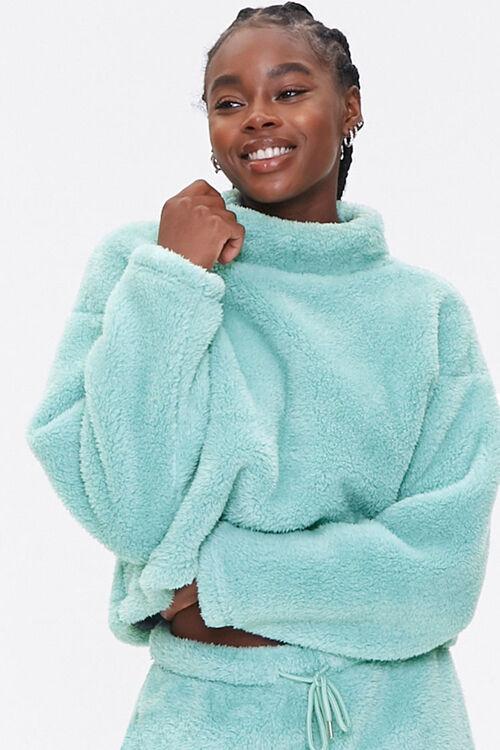 Plush Turtleneck Pullover, image 1