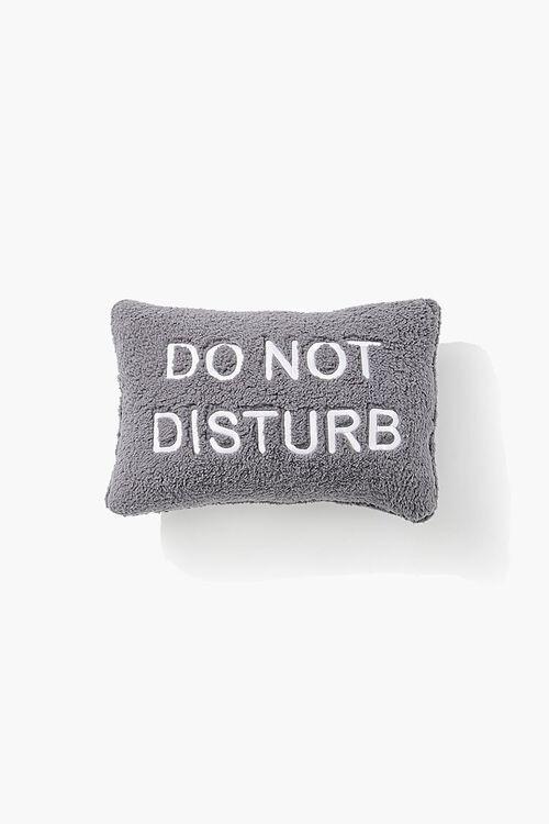GREY/WHITE Do Not Disturb Throw Pillow, image 1