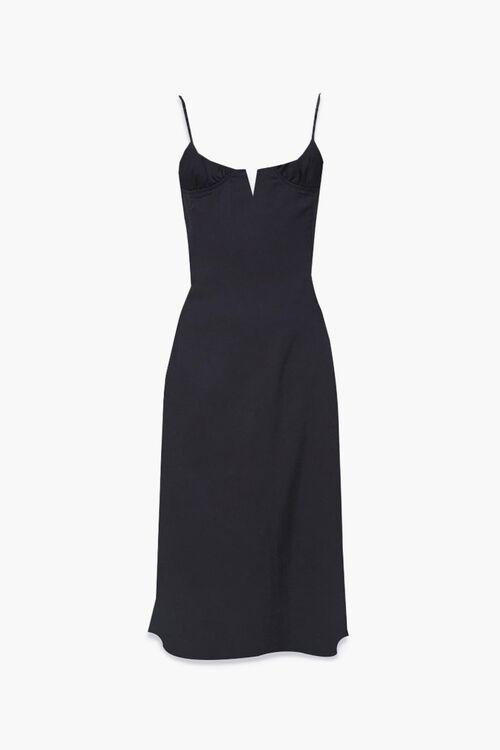 Satin Side-Slit Midi Dress, image 5