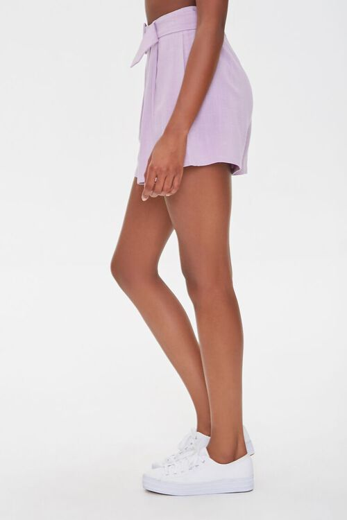 Pleated Linen-Blend Shorts, image 3