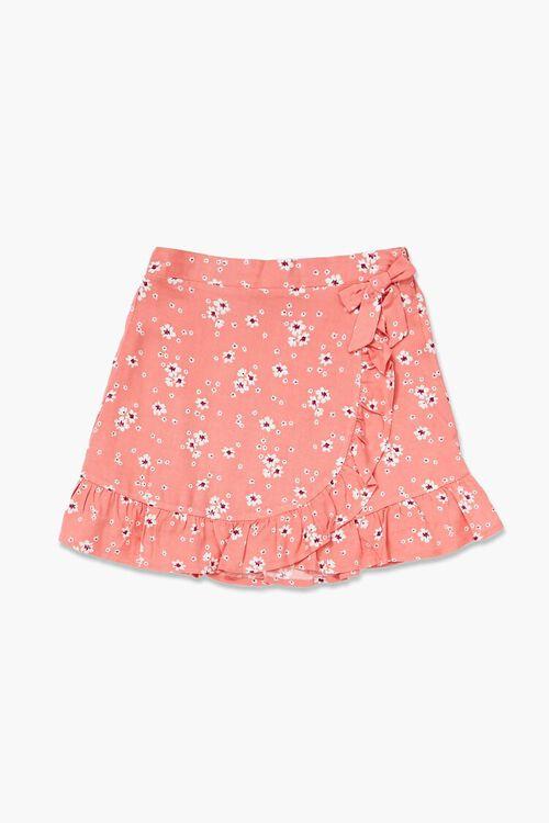 PINK/MULTI Girls Floral Print Skirt (Kids), image 1
