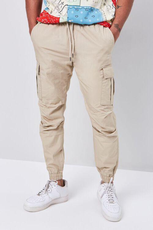Smocked Drawstring Cargo Pants, image 2