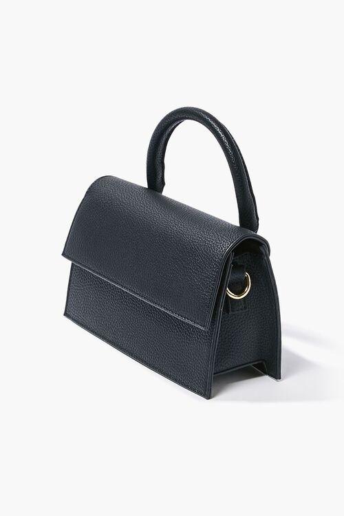 BLACK Structured Flap-Top Crossbody Bag, image 2