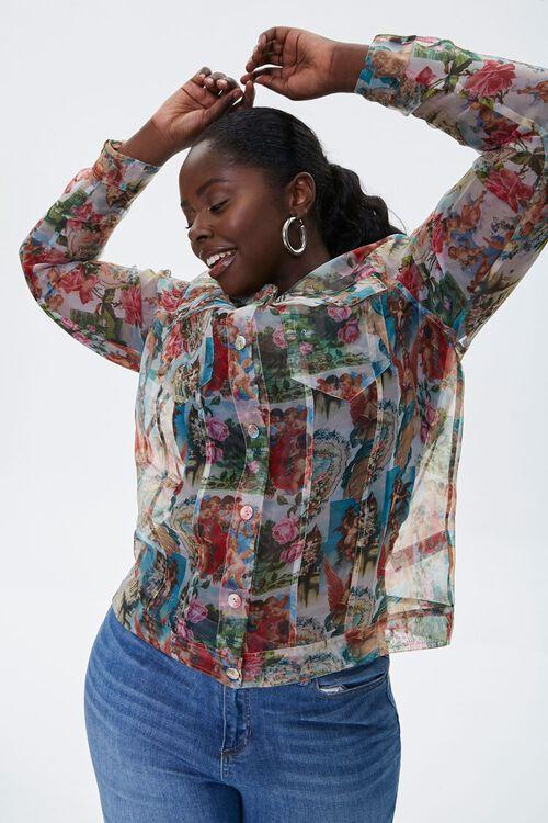 Plus Size Organza Cherub Shirt, image 1