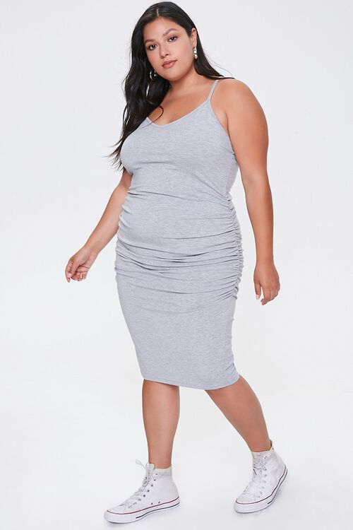 Plus Size Ruched Cami Dress, image 4