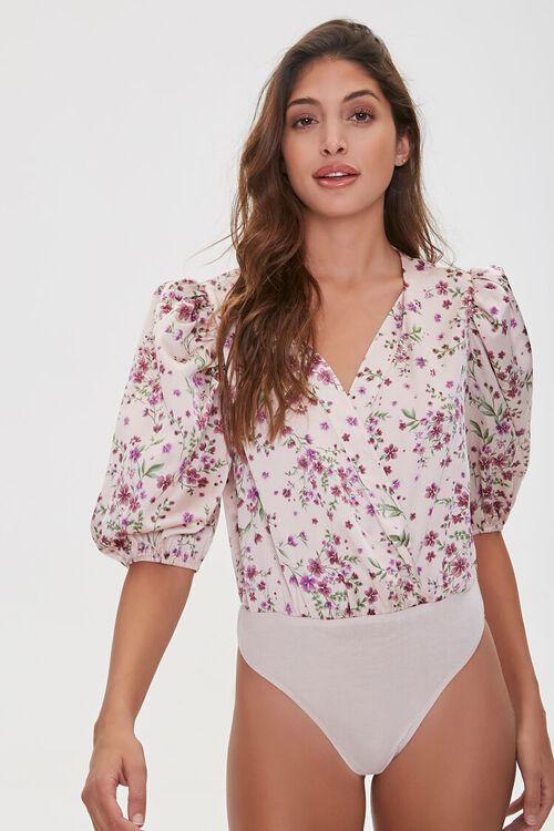 Floral Print Surplice Bodysuit, image 5