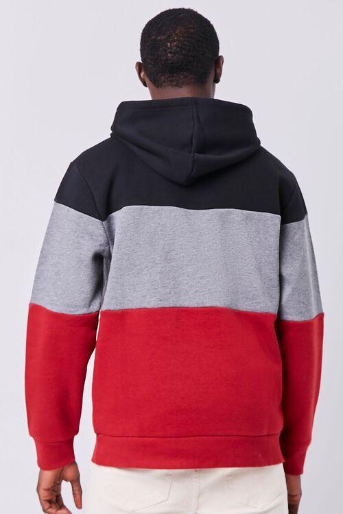 BURGUNDY/MULTI Colorblock Fleece Hoodie, image 3