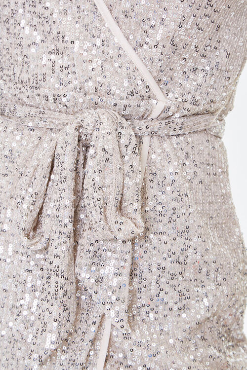 Glittered Wrap Dress, image 5