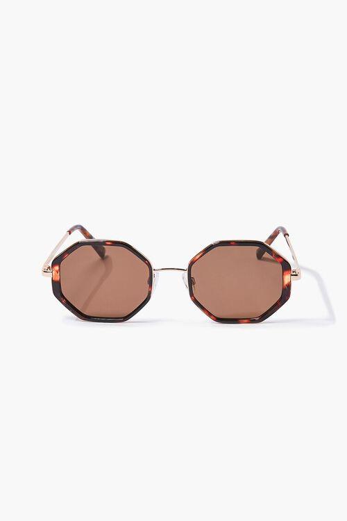 Tortoiseshell Geo Sunglasses, image 2