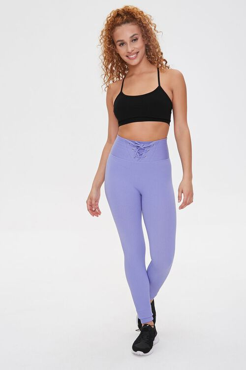 Active Seamless Lace-Up Leggings, image 1