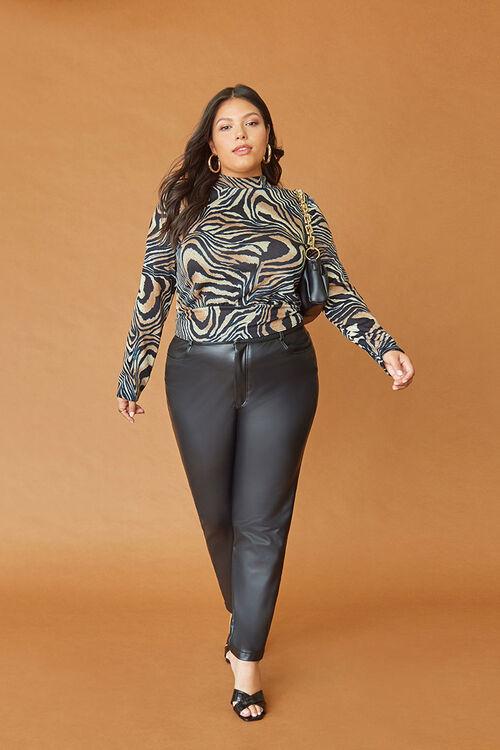 Plus Size Faux Leather Pants, image 1