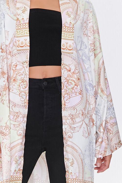 TAUPE/MULTI Ornate Baroque Print Duster Kimono, image 5