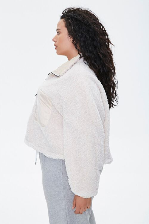 Plus Size Faux Shearling Jacket, image 2