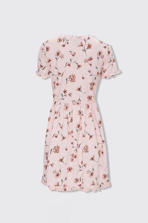 LIGHT PINK/MULTI Ruffled Floral Mini Dress, image 2