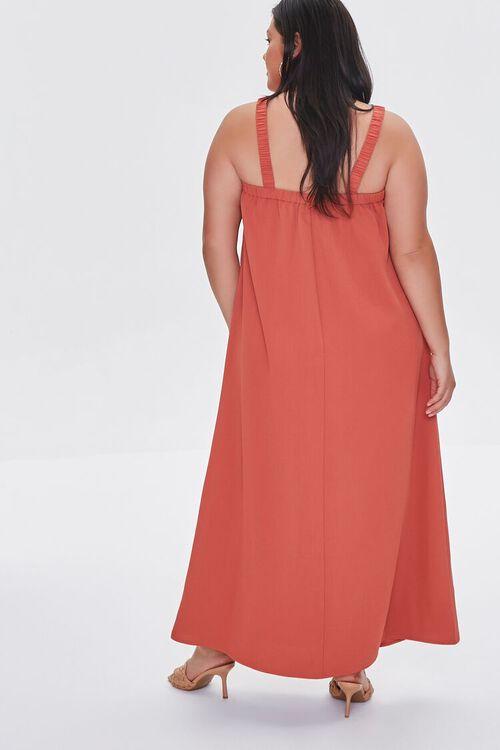RUST Plus Size M-Slit Maxi Dress, image 3