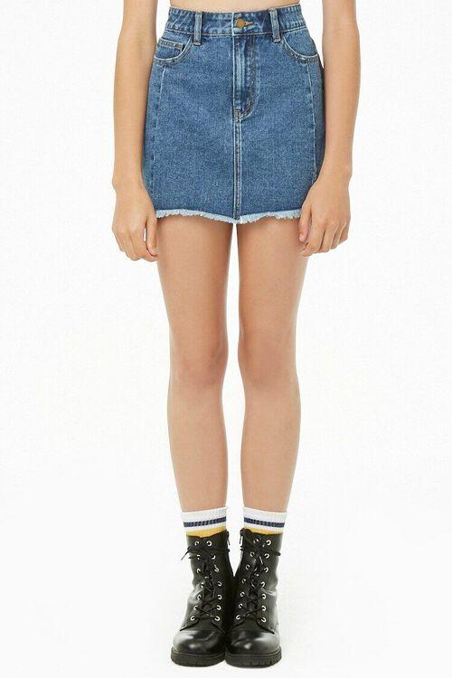 Step Hem Denim Mini Skirt, image 2