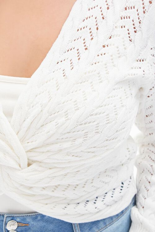 Plus Size Twisted Sweater-Knit Top, image 5