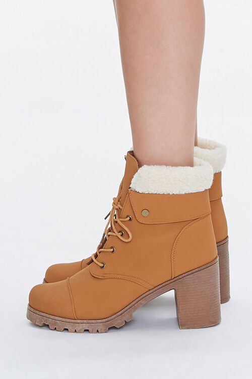 Faux Shearling Ankle Boots, image 2
