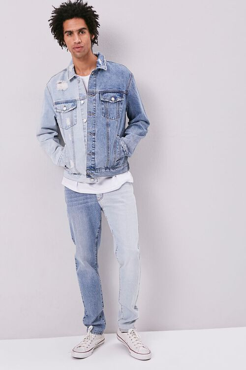 Colorblock Denim Jacket, image 4