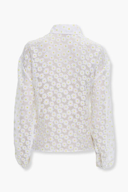 Sheer Daisy Print Shirt, image 3